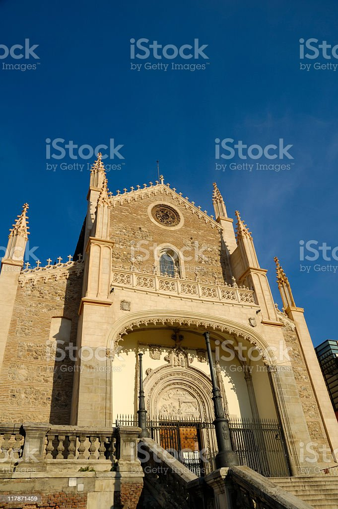 Beautiful church facade, Madrid royalty-free stock photo