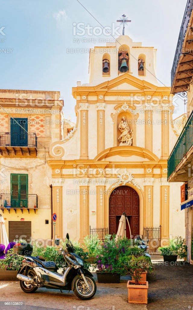 Beautiful church in Monreale Sicily zbiór zdjęć royalty-free