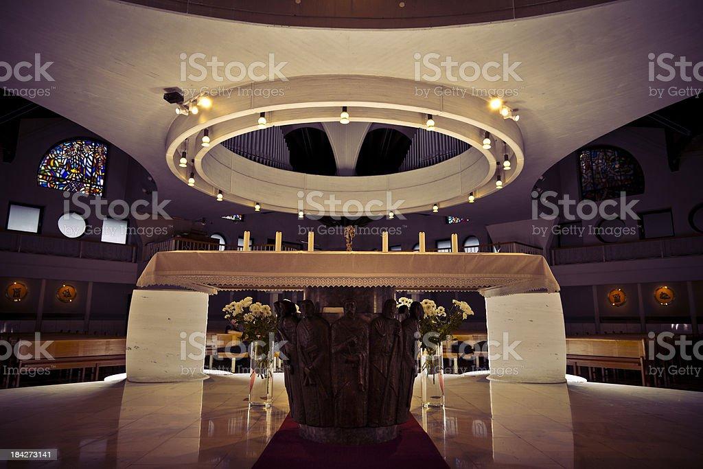 Beautiful church interior stock photo