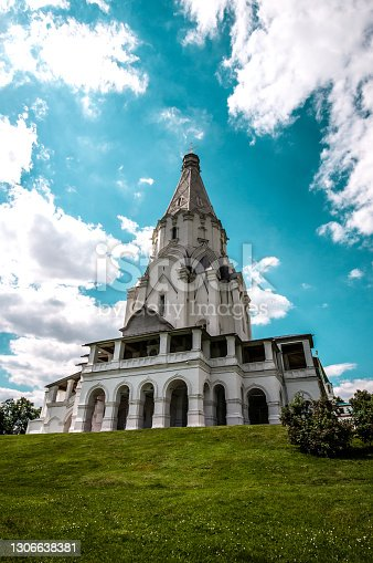 Beautiful Church Of Ascension In Kolomenskoye, Russia