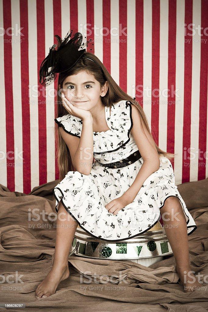 Beautiful circus presentatrice royalty-free stock photo