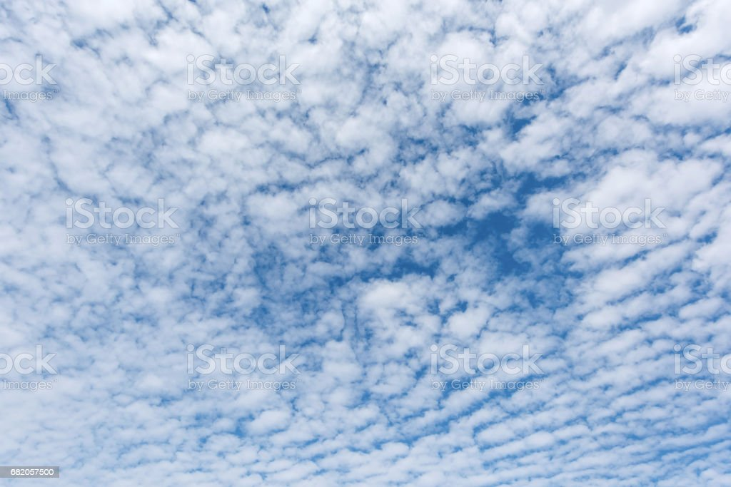 Beautiful Cirrocumulus or Altocumulus on the middle altitude layer stock photo