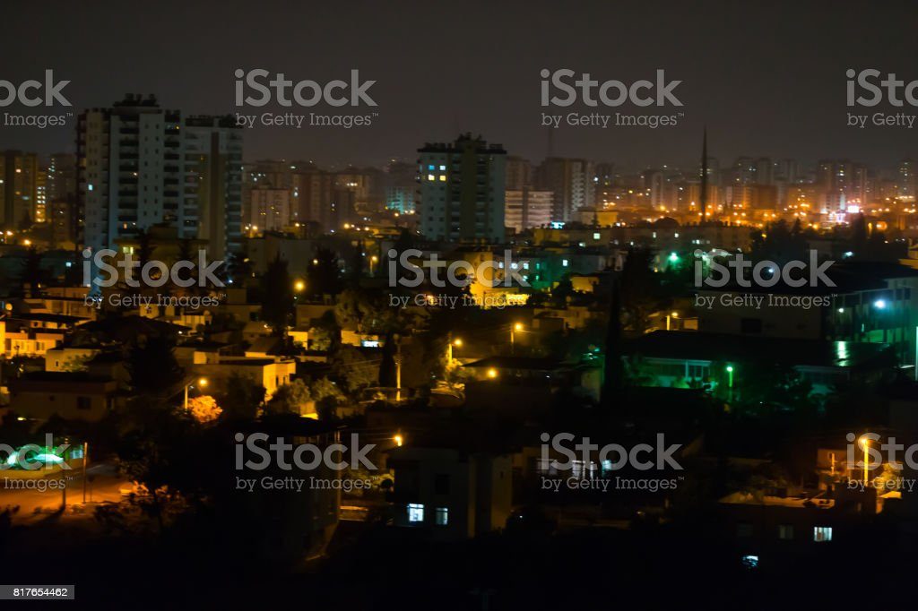 Beautiful city at night stock photo