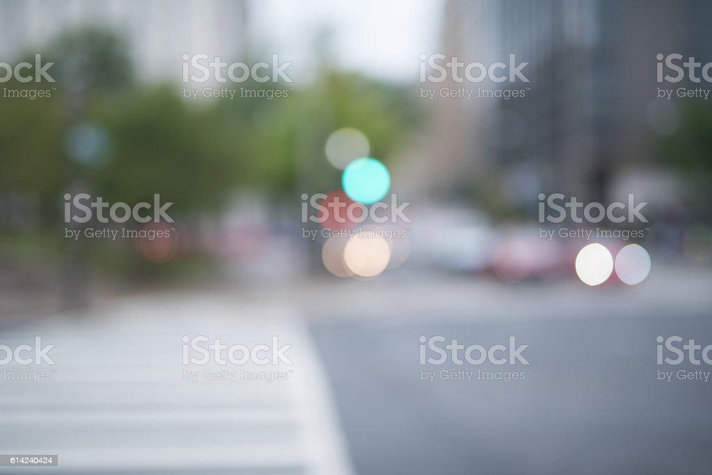 Beautiful city bokah stock photo