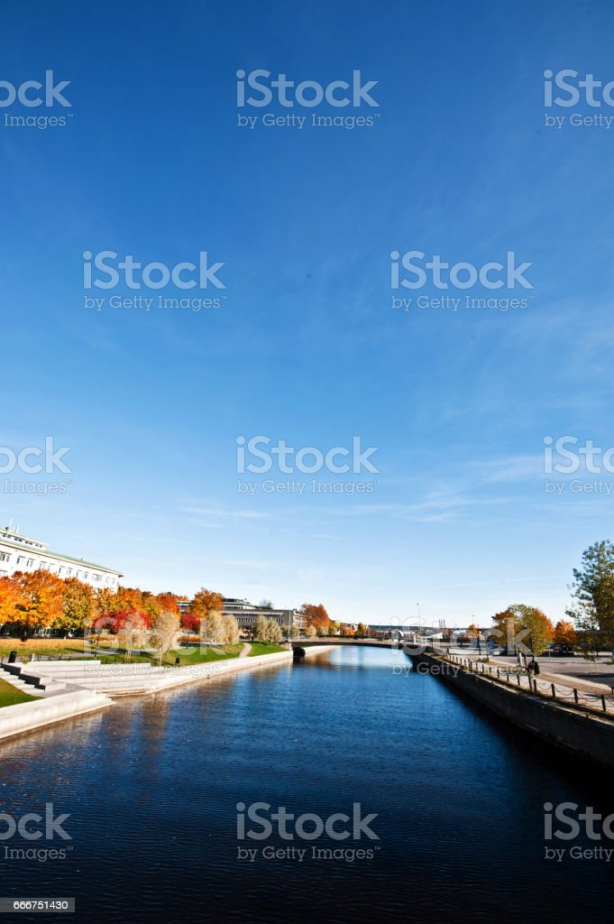 A Beautiful City Centre on a Sunny Summer Day foto stock royalty-free