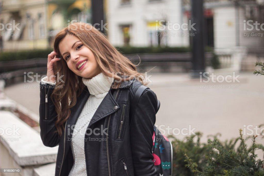 Beautiful City Girl royalty-free stock photo