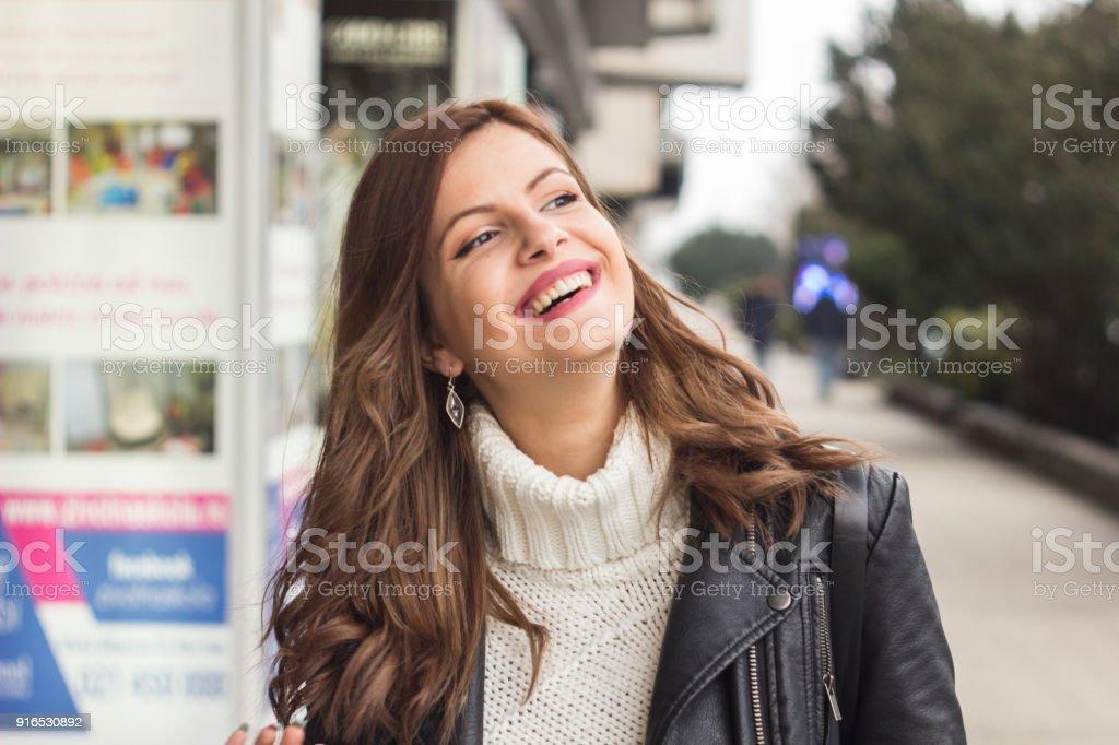 Beautiful City Girl stock photo