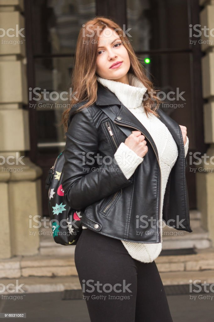 Beautiful City Girl royalty-free stock photo