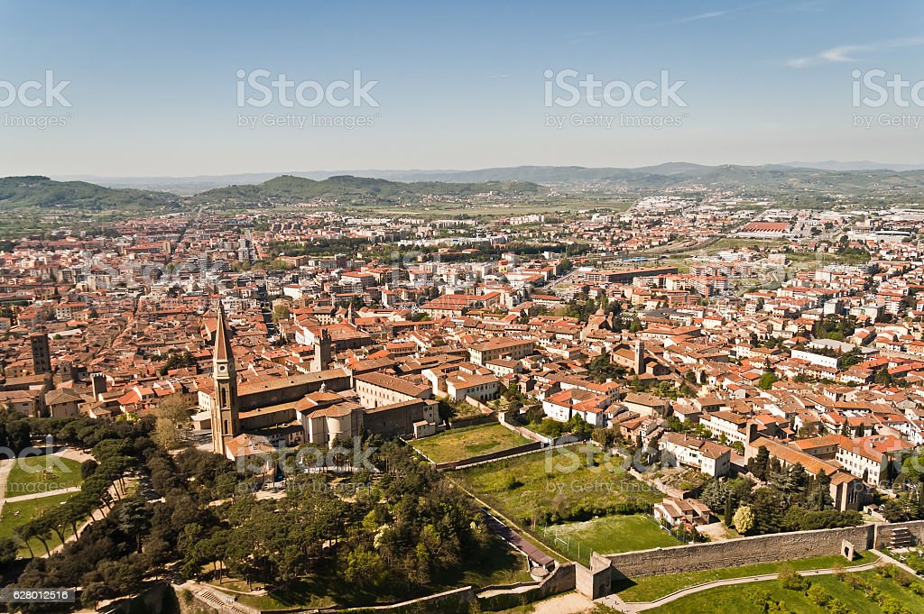 beautiful city of Arezzo in Tuscany - Italy - foto de acervo