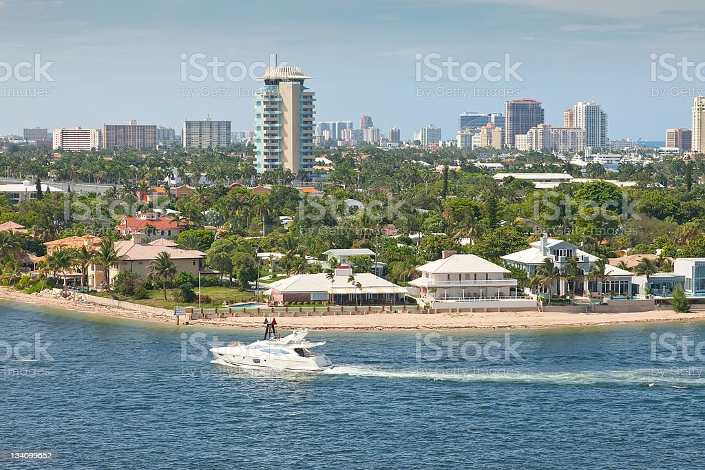 Beautiful City of Fort Lauderdale, Florida stock photo