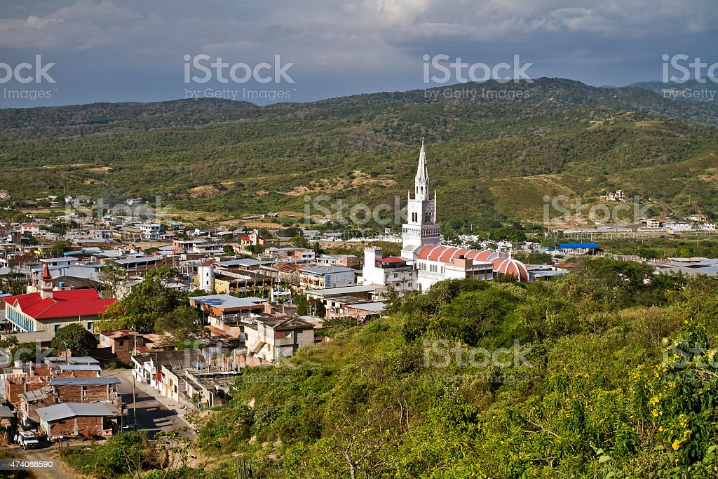 Beautiful city of Montecristi in the Ecuadorian coast stock photo