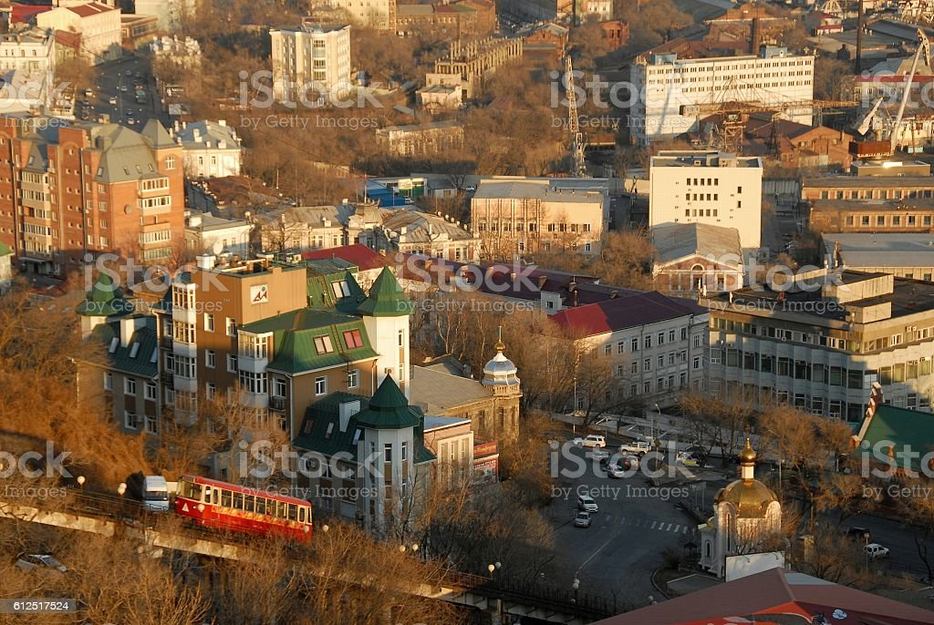 beautiful city of Vladivostok стоковое фото