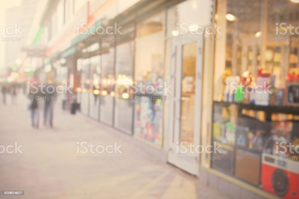 beautiful city street background. stock photo