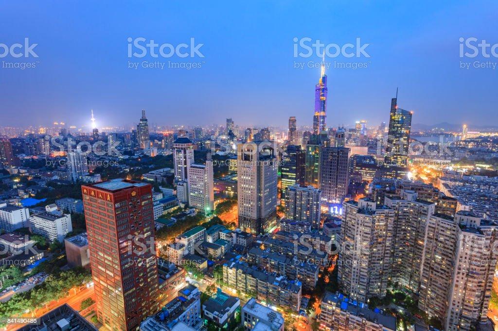beautiful cityscape of Nanjing stock photo