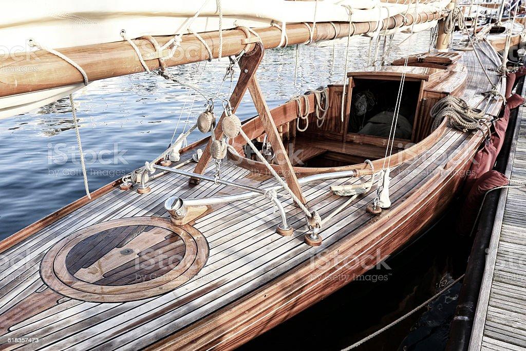 Beautiful classic sailboat stock photo