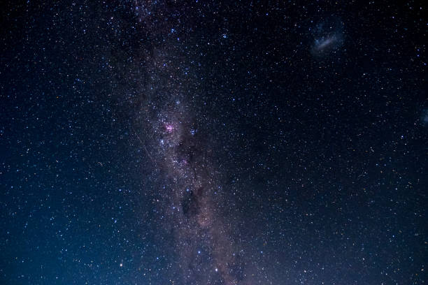 Beautiful clear sky with the starry night. stock photo