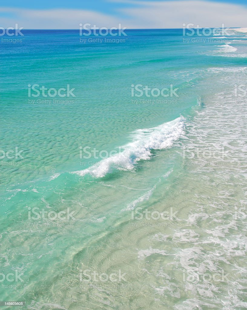Beautiful Clear Surf stock photo