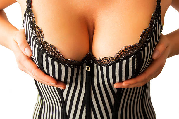 Beautiful cleavage stock photo