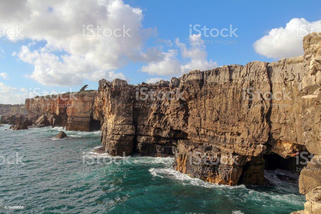 beautiful cliffs in Cascais near Lisbon, Portugal 免版稅 stock photo