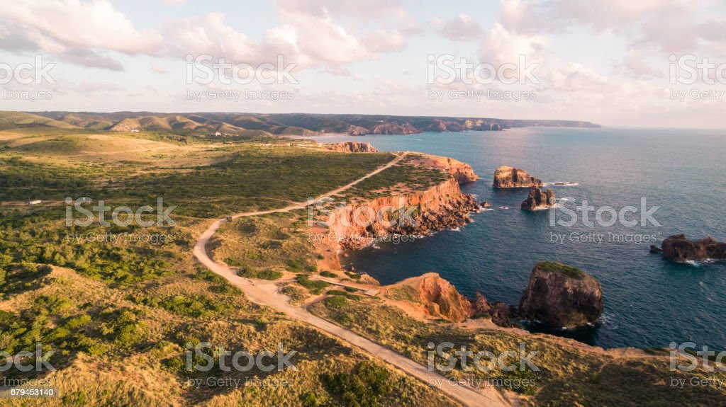Beautiful cliffs on west coast of Portugal near Carrapateira, Rota Vicentina. royalty-free stock photo