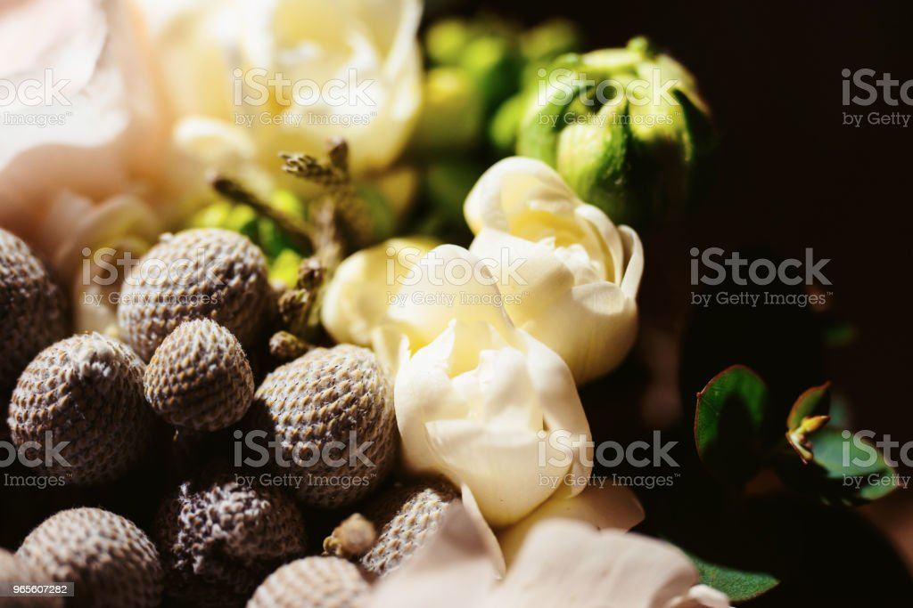 Beautiful close-up of a flower arrangement or bouquet with colorful...