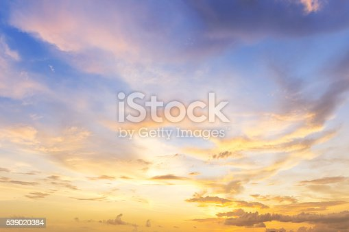 beautiful cloud twilight sky at sunset