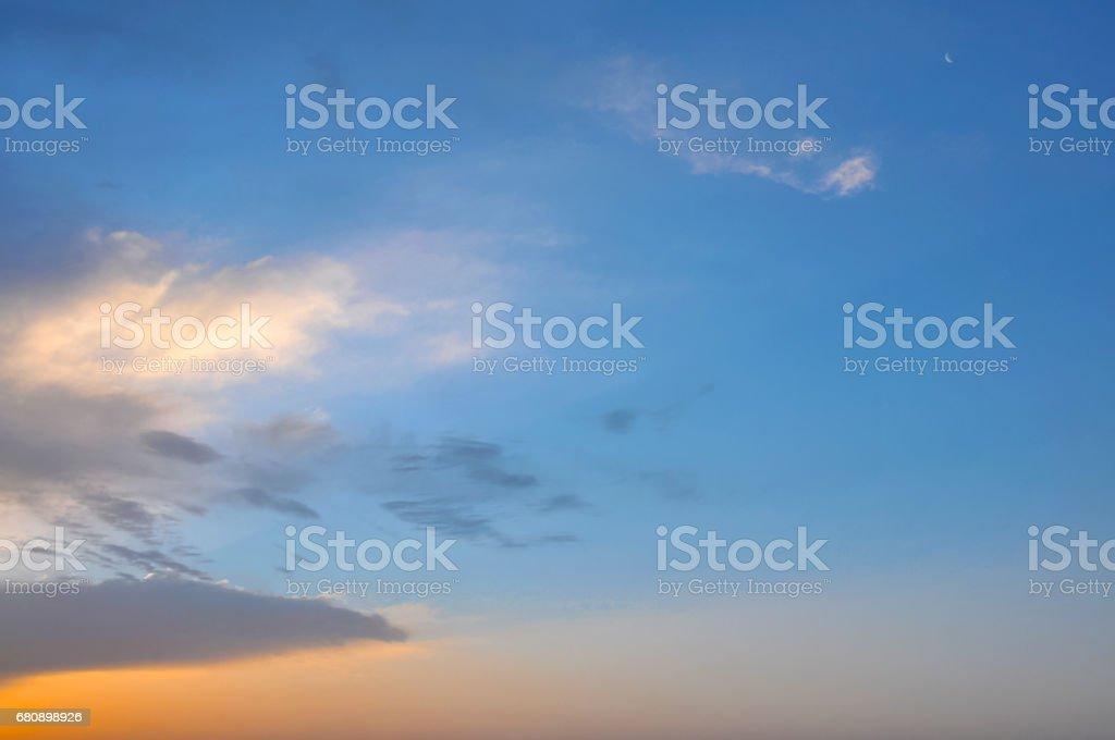 Beautiful cloud at sunset royalty-free stock photo