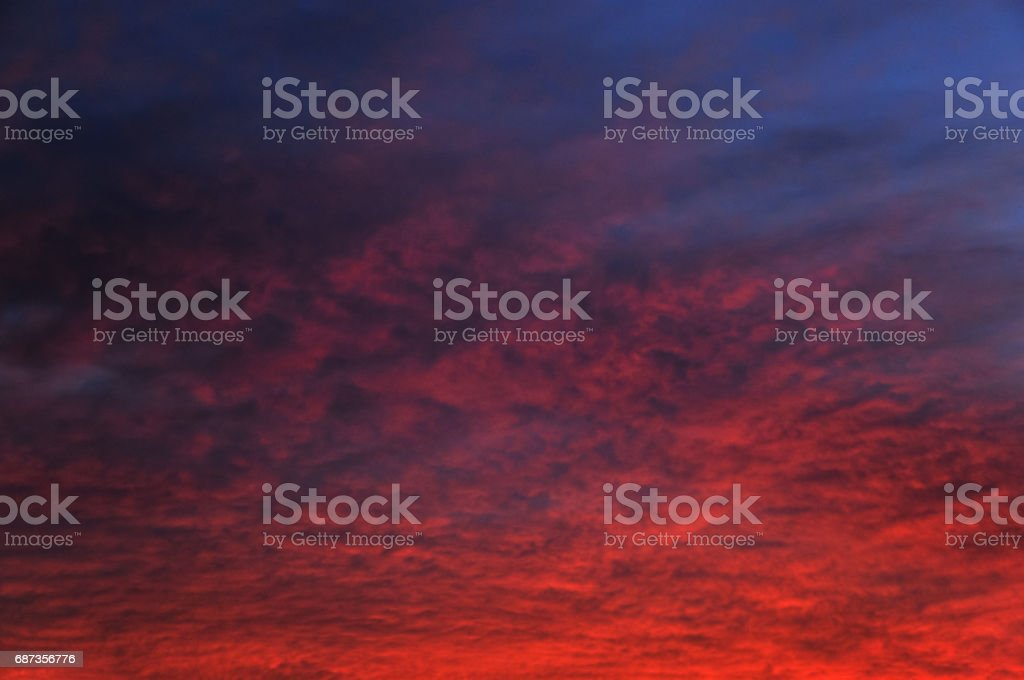 Beautiful cloud at sunset stock photo