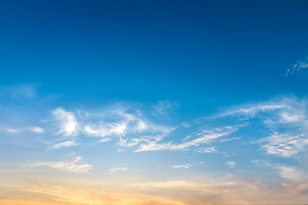 beautiful cloud at sunset - skies stock photos and pictures