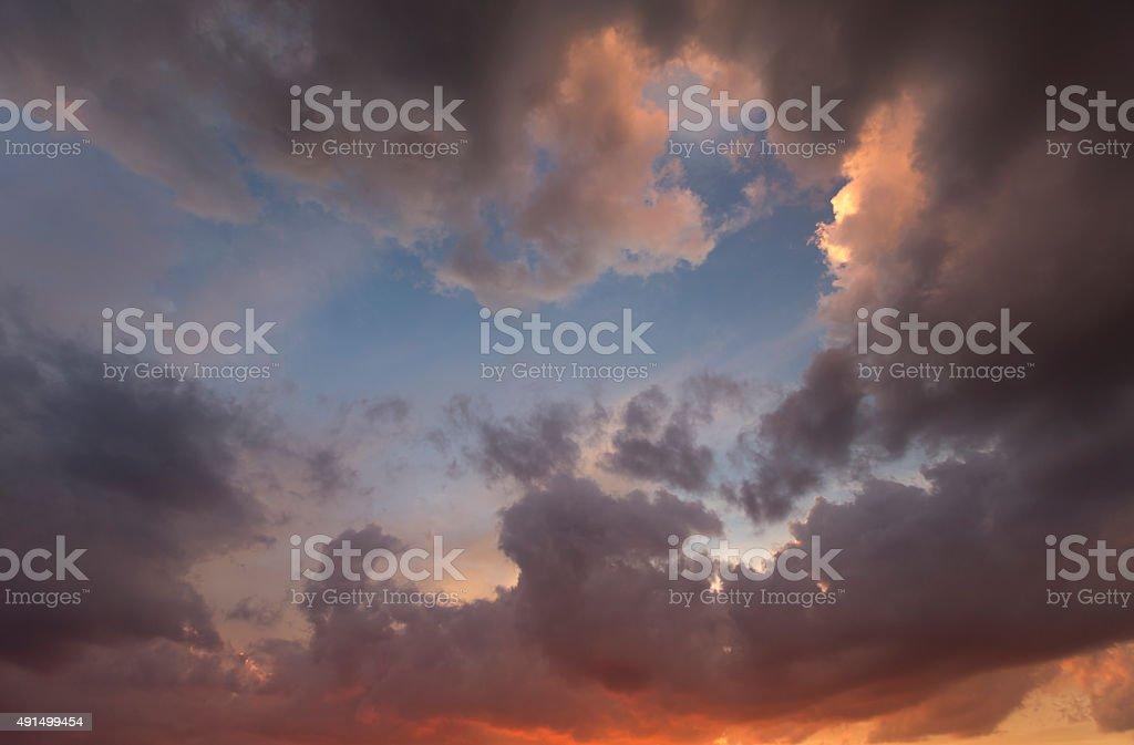 Beautiful Cloud Break stock photo