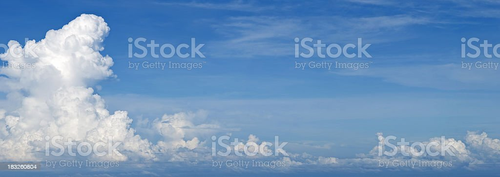 beautiful cloud formation royalty-free stock photo