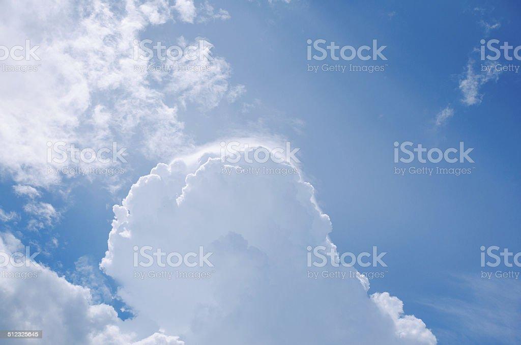 beautiful cloud stock photo