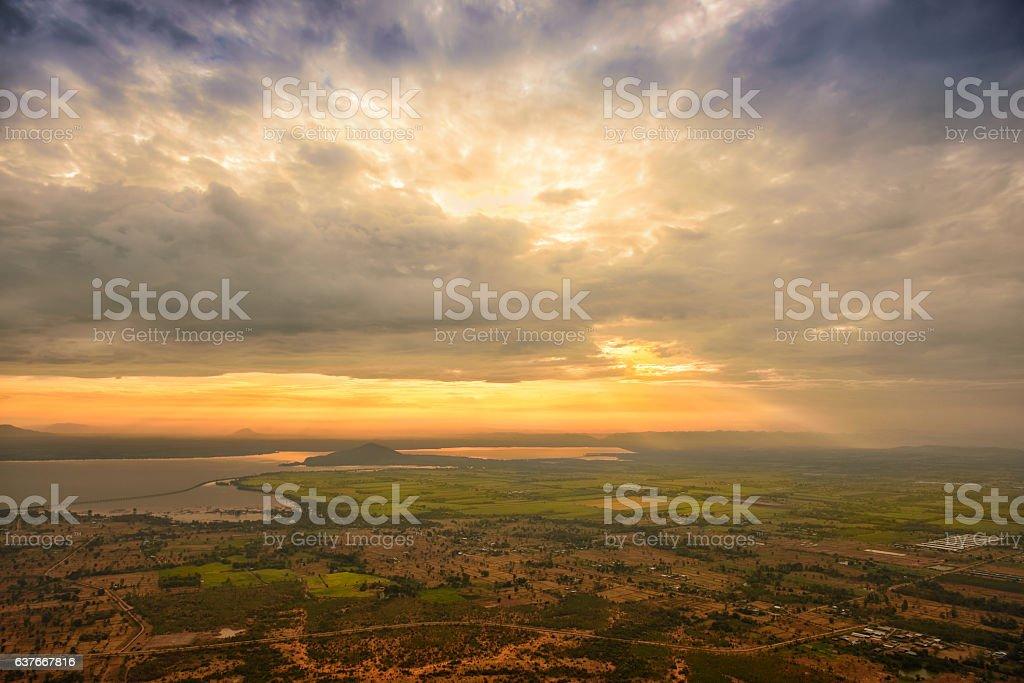 Beautiful cloud sky in the morning stock photo