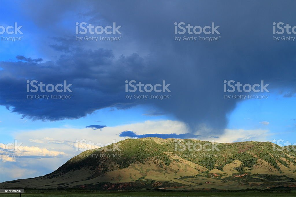 Beautiful clouded sky royalty-free stock photo
