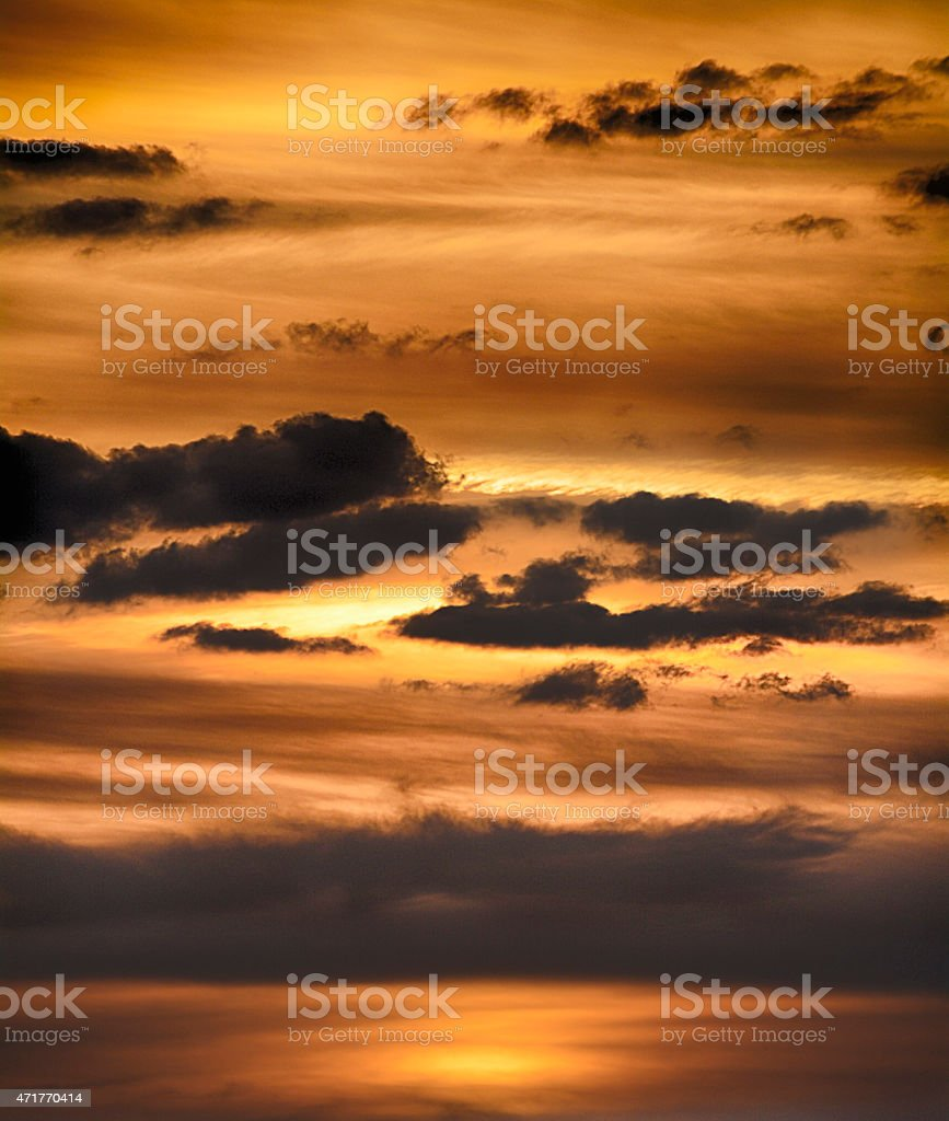 Beautiful clouds in sunset stock photo