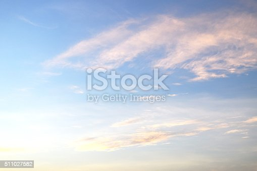 istock Beautiful Clouds in the blue sky Nature Environment 511027582