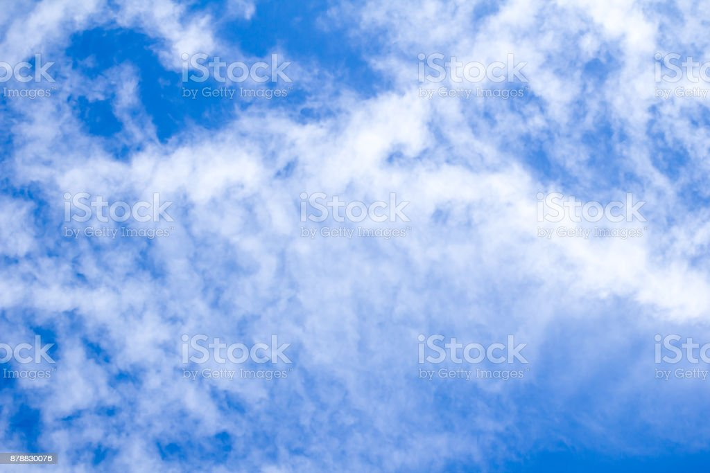 beautiful clouds in the blue sky stock photo