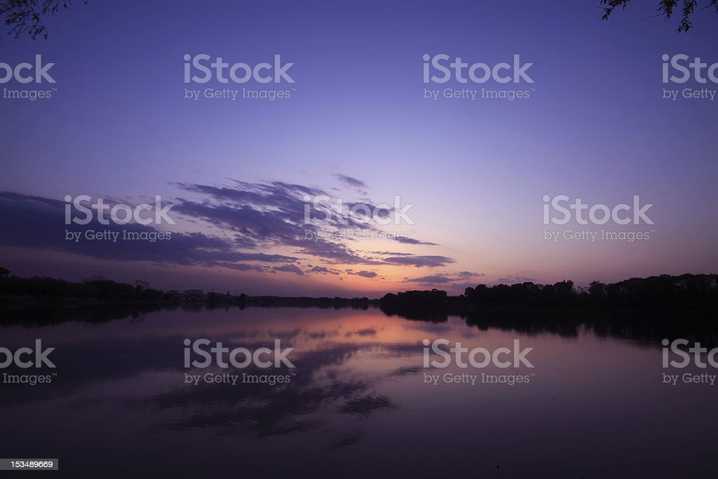 beautiful clouds in the evening royalty-free stock photo