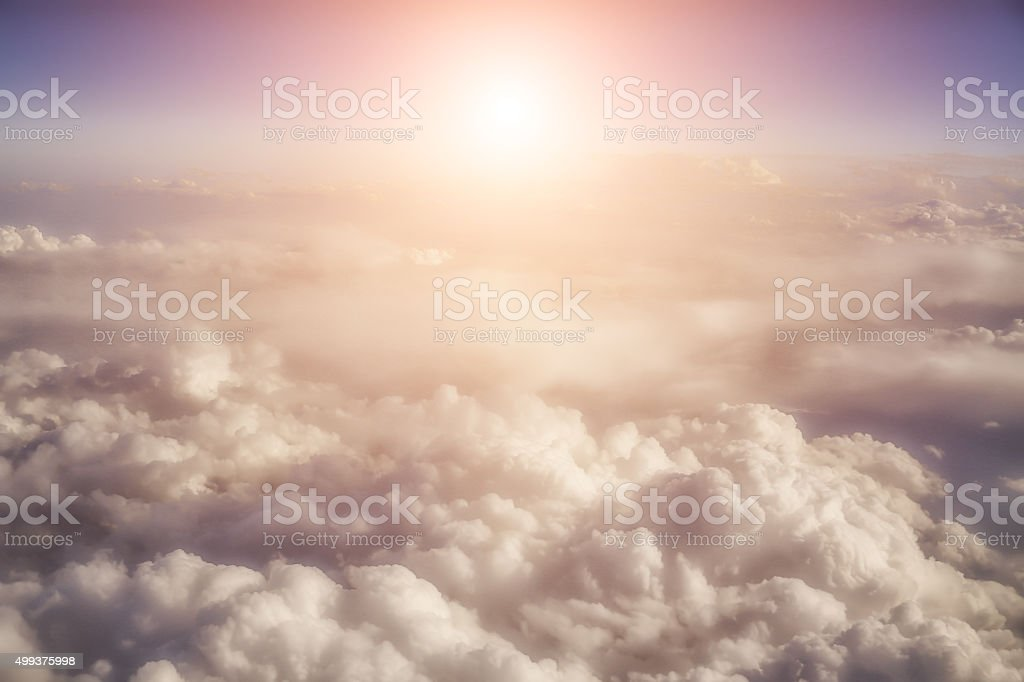 Beautiful Clouds in the sky stock photo