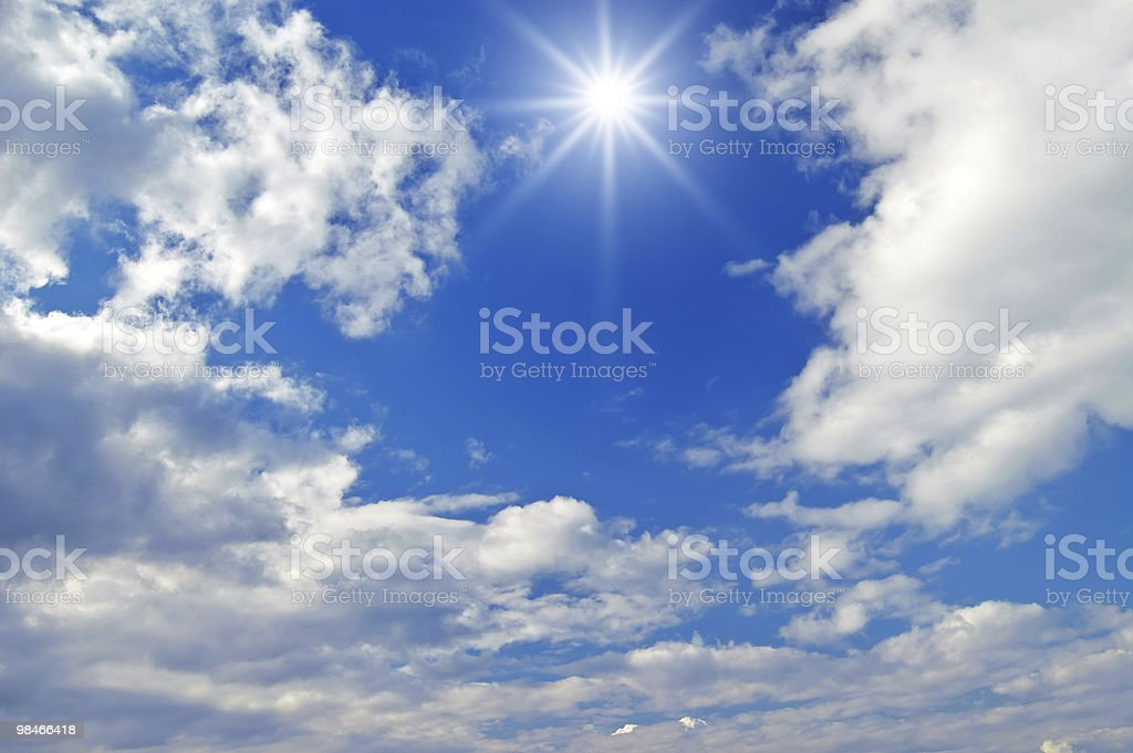 beautiful clouds in the sky royalty-free stock photo