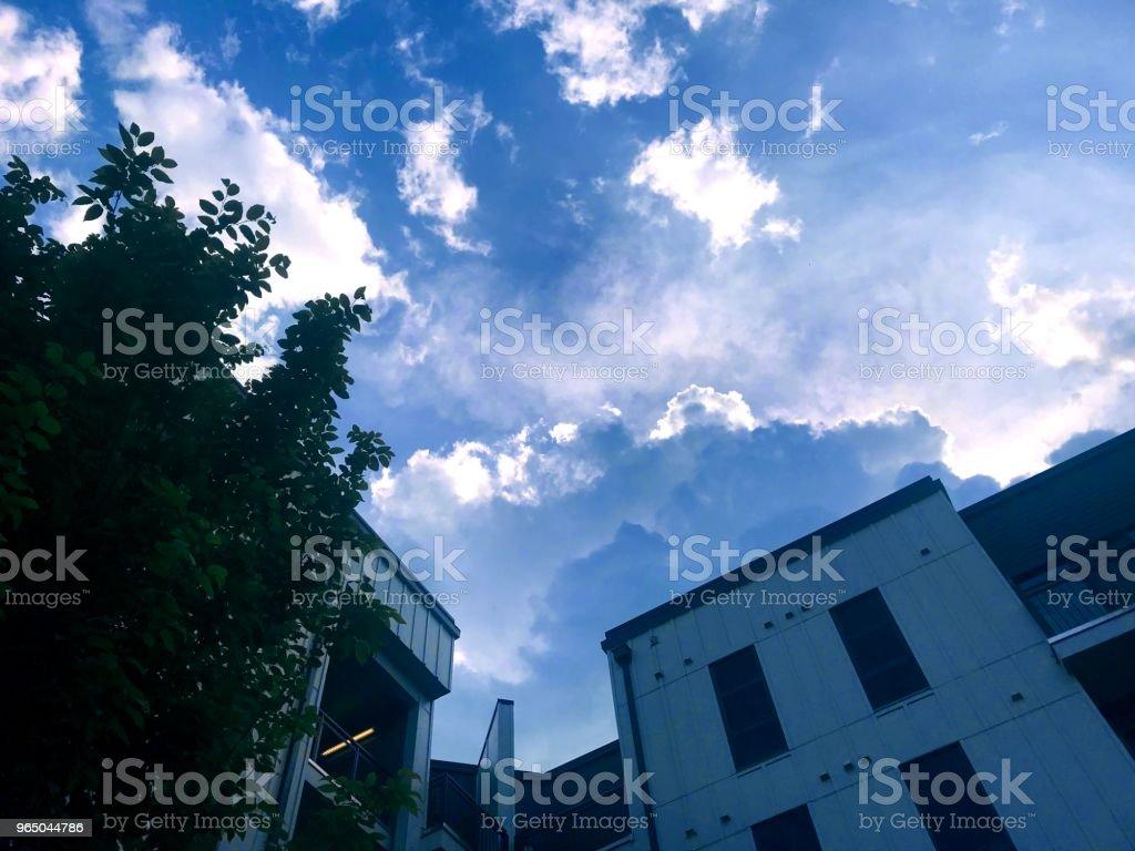 Beautiful clouds royalty-free stock photo