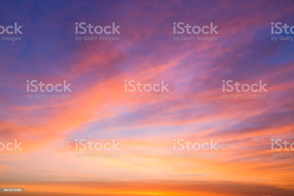Beautiful Cloudscape in the Morning stock photo