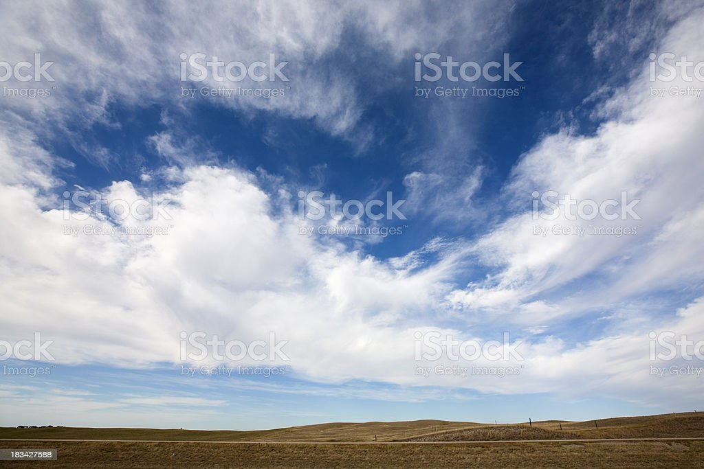 Beautiful Cloudscape On Prairie royalty-free stock photo