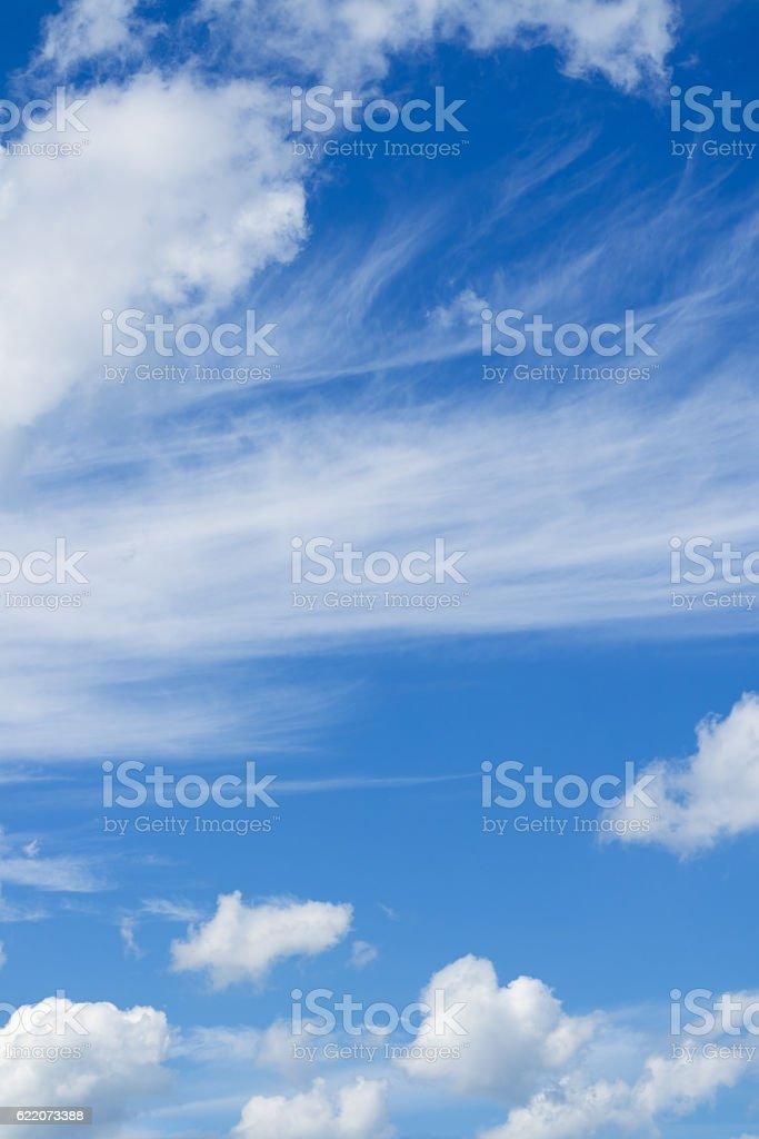 Beautiful cloudscape over horizon. stock photo