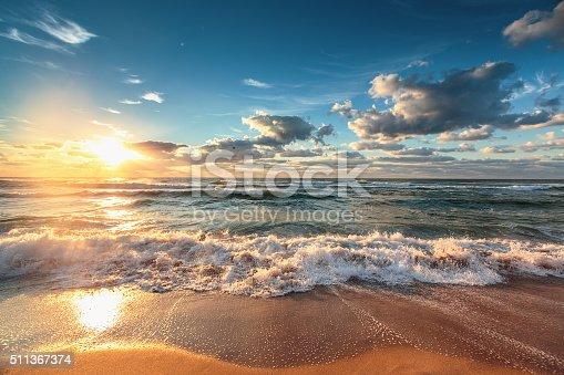 istock Beautiful cloudscape over the sea 511367374