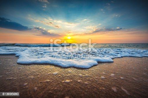 istock Beautiful cloudscape over the sea 613695680