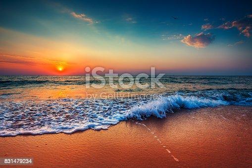 istock Beautiful cloudscape over the sea, sunrise shot 831479234