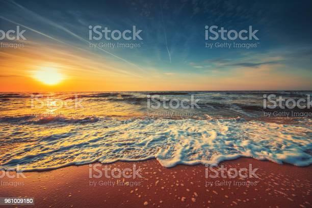 Photo of Beautiful cloudscape over the sea, sunrise shot