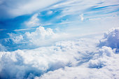 Amazing cloudscape in a sunny day.