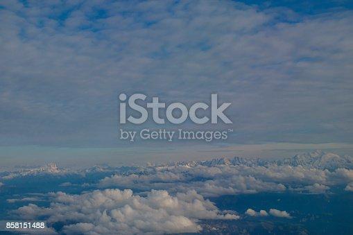 484616224 istock photo Beautiful cloudy sky 858151488